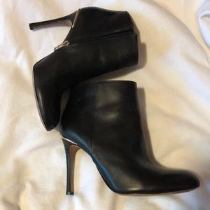 Black Coach leather booties